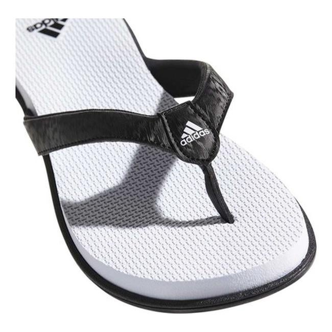 f6343bdce42 Shop adidas Women s Cloudfoam One Y Thong Sandal Black Black Aero Blue -  Free Shipping On Orders Over  45 - Overstock - 19738937