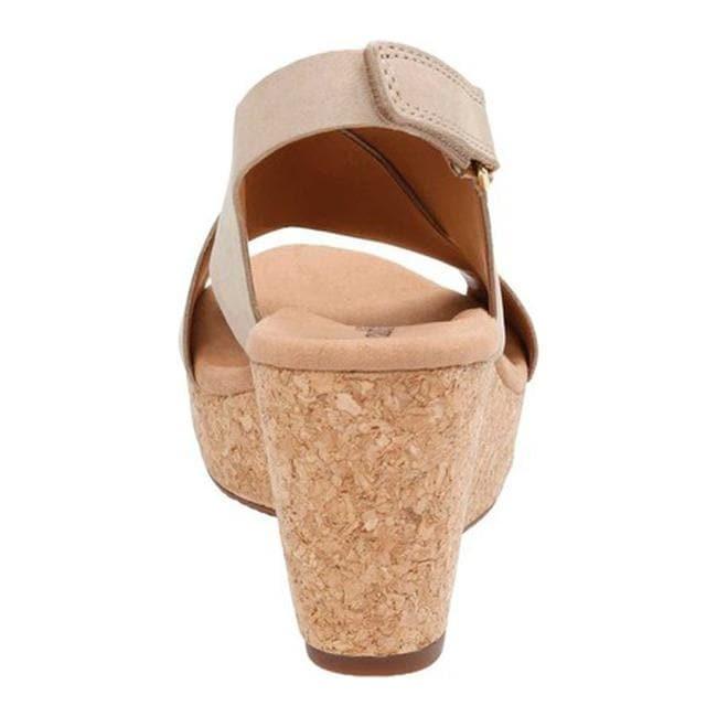 434769393da2 Shop Clarks Women s Annadel Eirwyn Slingback Wedge Sandal Sand Nubuck - On  Sale - Free Shipping Today - Overstock - 14272023