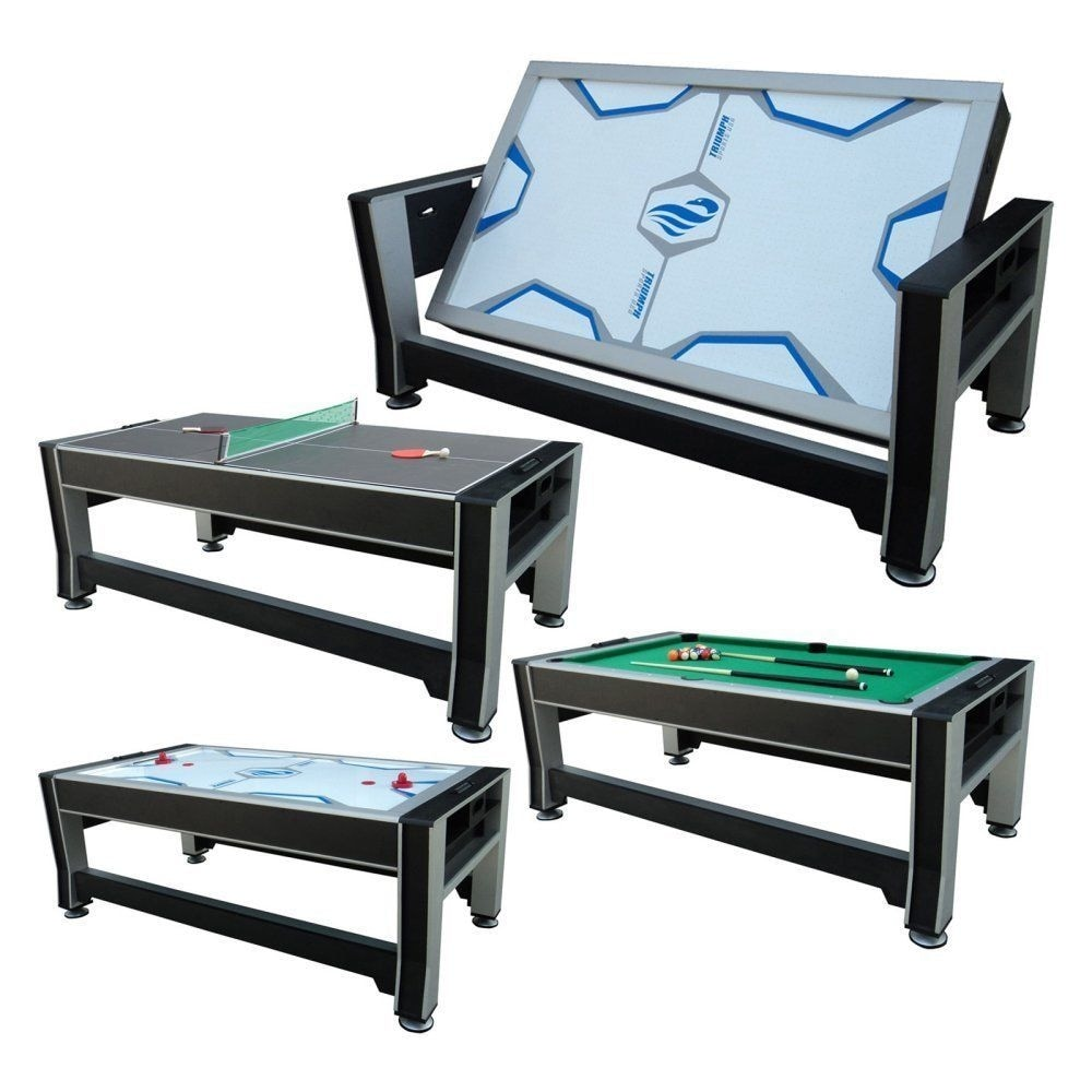 Attirant Shop Triumph 84 Inch 3 In 1 Rotating Combo Game Table Billiards, Hockey,  Tennis / 45 6066   Free Shipping Today   Overstock.com   18095286