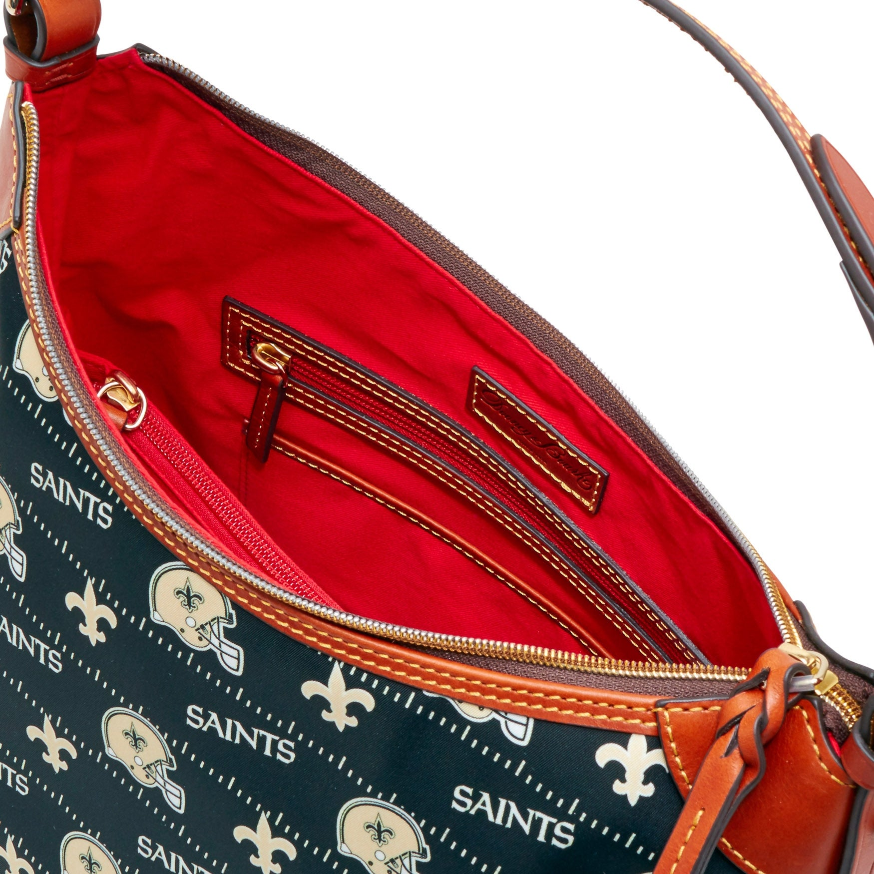 467d443adf Shop Dooney   Bourke NFL New Orleans Saints Large Erica Shoulder Bag  (Introduced by Dooney   Bourke at  168 in Aug 2017) - Free Shipping Today -  Overstock - ...