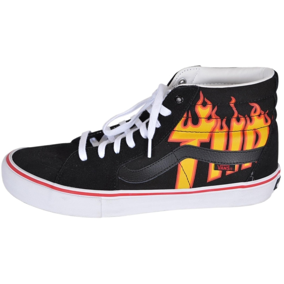 1d8bacbc68b3ad Shop VANS Men s SK8-Hi Thrasher Black Flame High Tops Skate Shoes Sneakers  11 - On Sale - Ships To Canada - Overstock - 21852794
