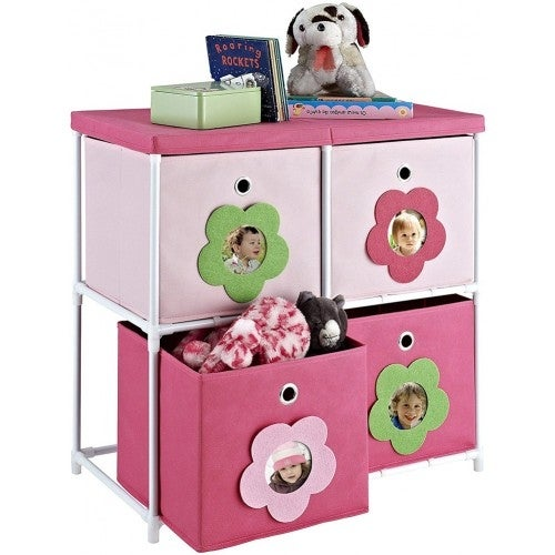 Shop Altra Floral Blossom Fabric Bin Storage Unit By Cosco   Free Shipping  On Orders Over $45   Overstock.com   16147919
