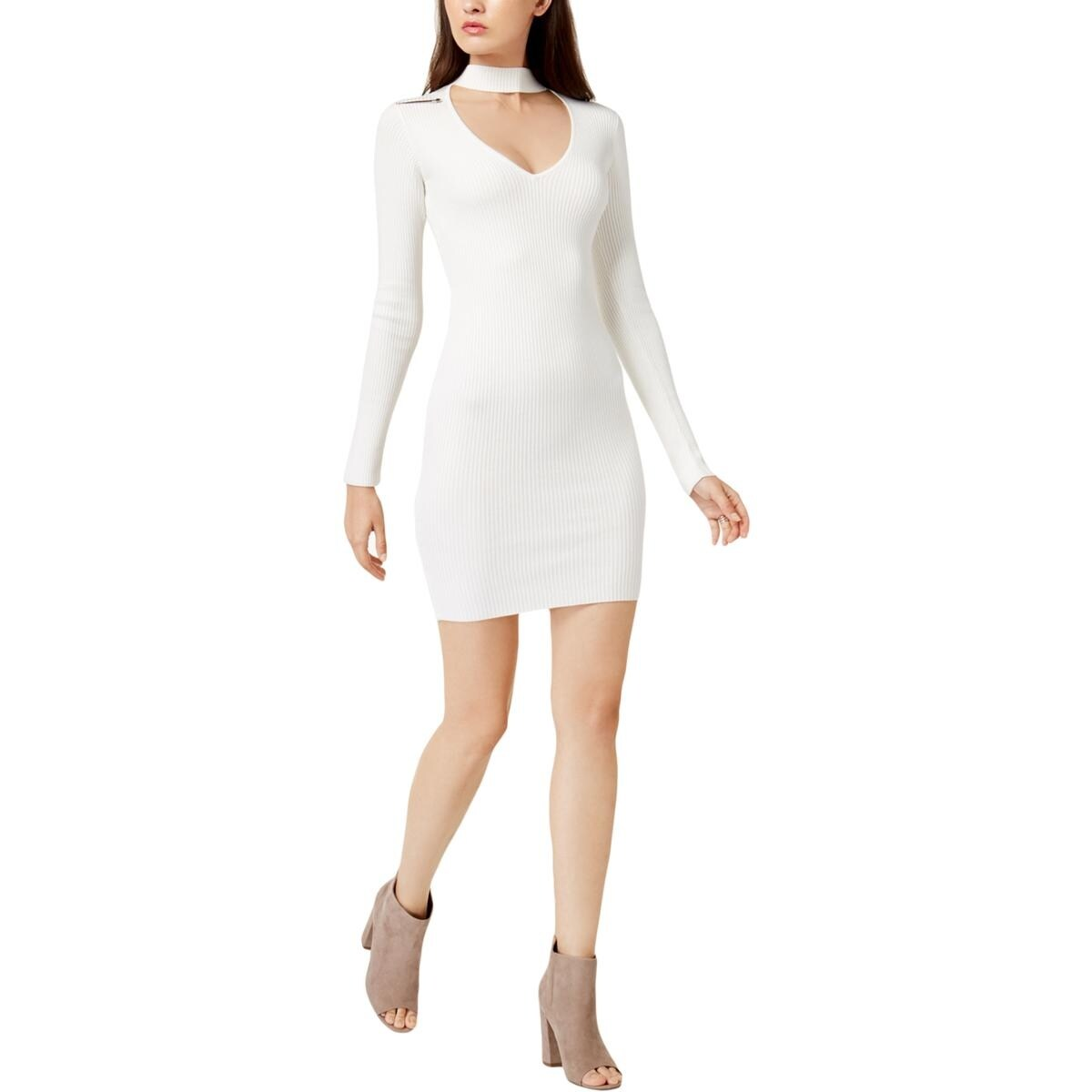 3f09ccd56ea Shop Guess Womens Teagan Sweaterdress Above Knee Cut-Out - Free Shipping On  Orders Over  45 - Overstock.com - 23139467