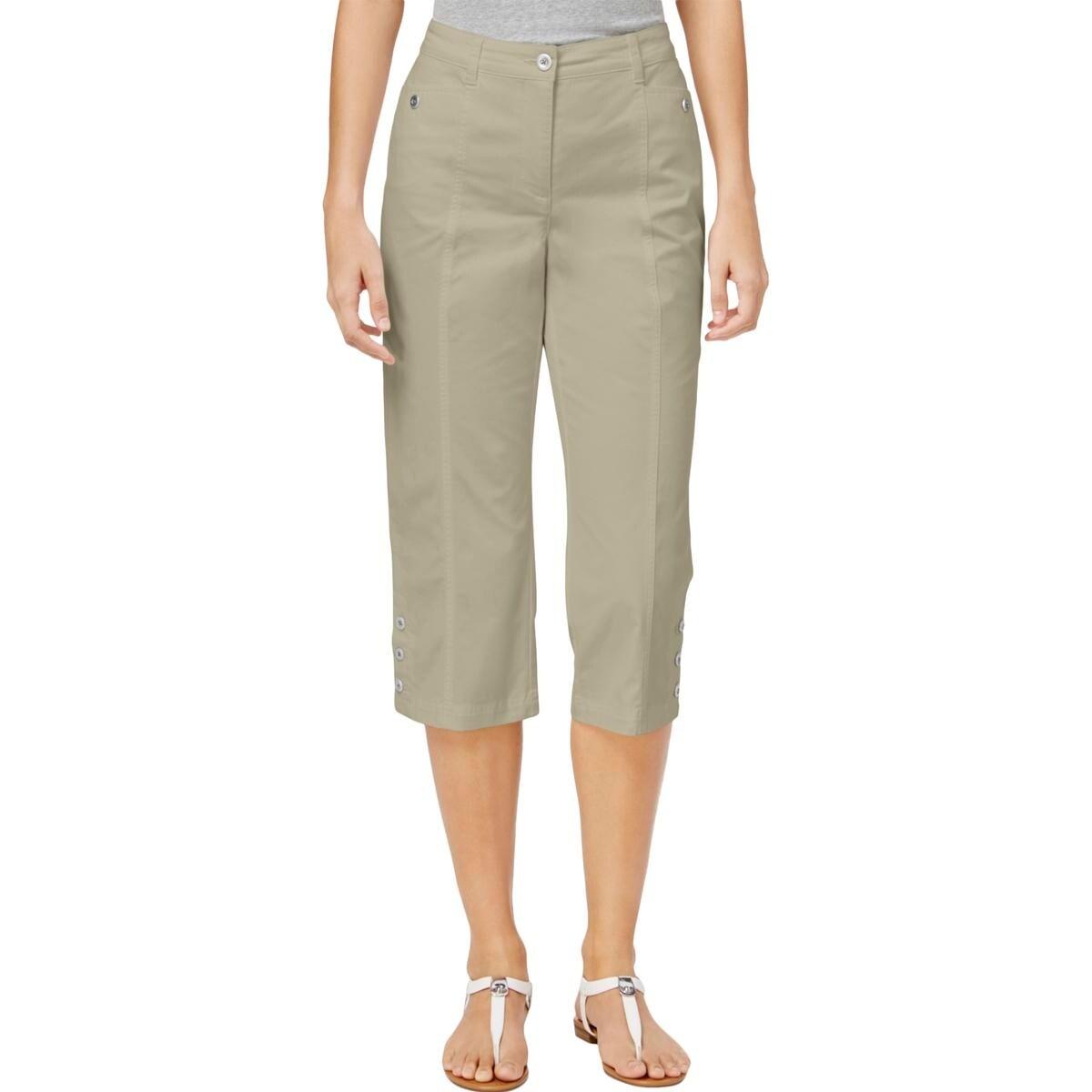 e9e42b6689924 Karen Scott Womens Petites Capri Pants Twill Comfort Waist - Free Shipping  On Orders Over  45 - Overstock - 27561195