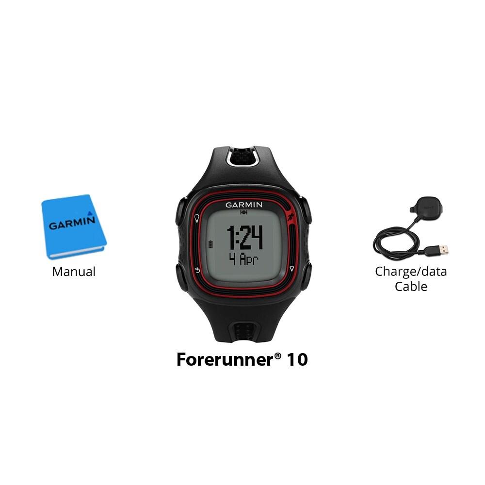 Garmin Forerunner 10 >> Garmin Forerunner 10 Black Red Gps Running Watch