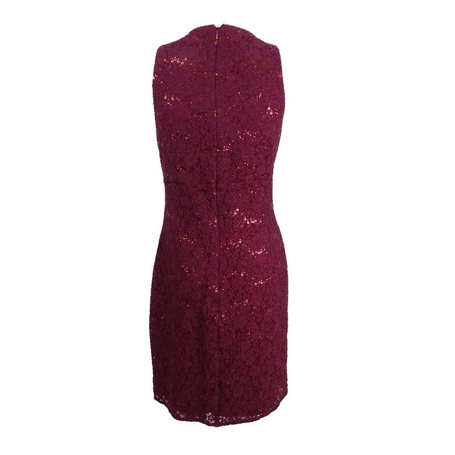 1e84ac9cd98 Shop Nightway Women s Petite Sequined Lace Cocktail Dress (10P ...