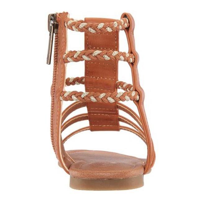 04878e9d9b6 Shop Nina Girls  Chryssa Gladiator Sandal Tan Smooth Synthetic - Free  Shipping Today - Overstock - 27347811