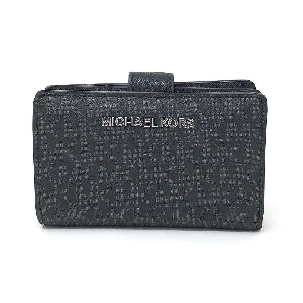 0ae6322e126278 Shop Michael Kors Jet Set Travel Signature PVC Bifold Zip Coin Wallet -  Free Shipping Today - Overstock - 23139704
