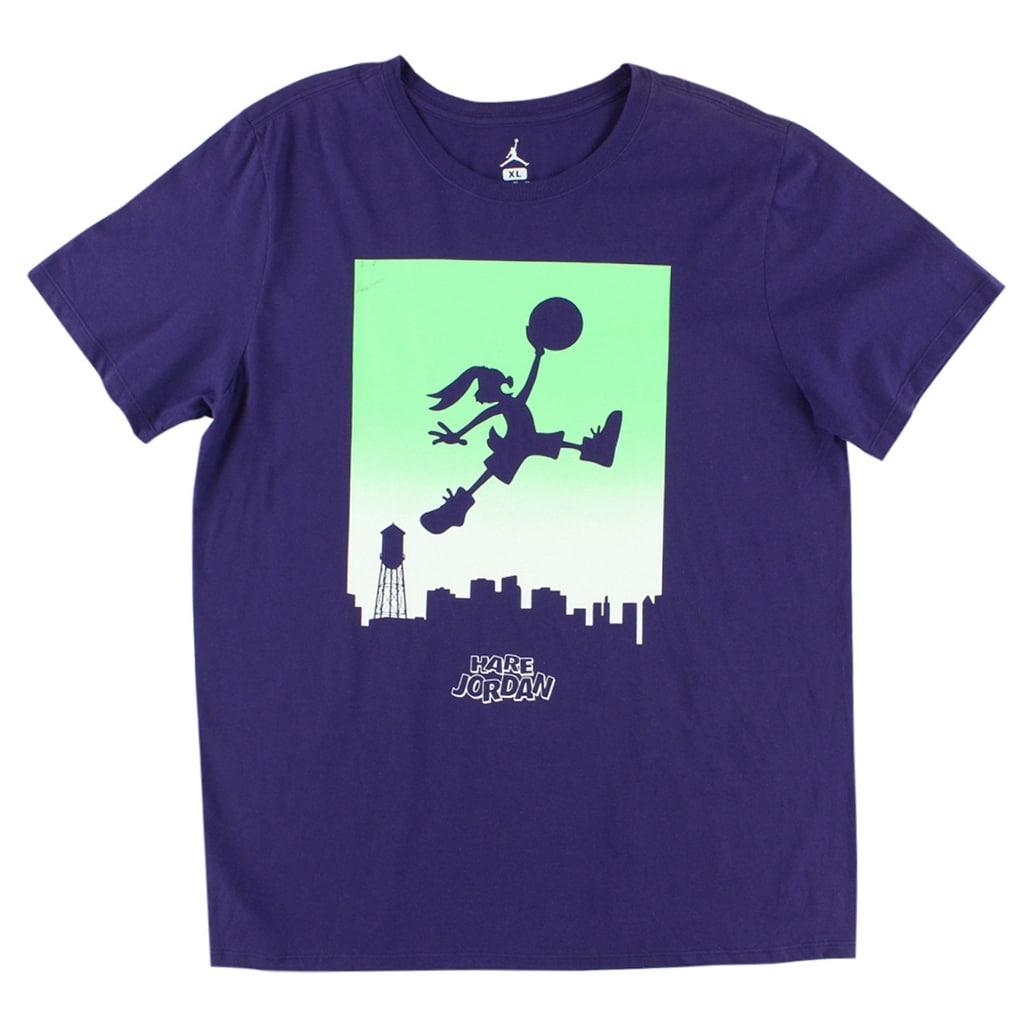 Shop Jordan Mens Jumpbunny Wb Skyline T Shirt Purple Purplegreen