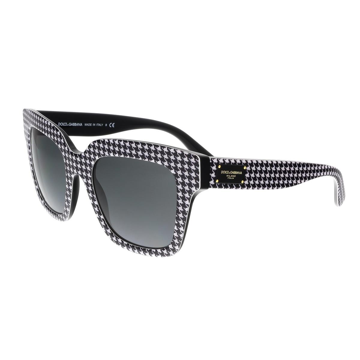 a3fc2eec07 Dolce   Gabbana DG4286 307987 Black White Square Houndstooth Sunglasses