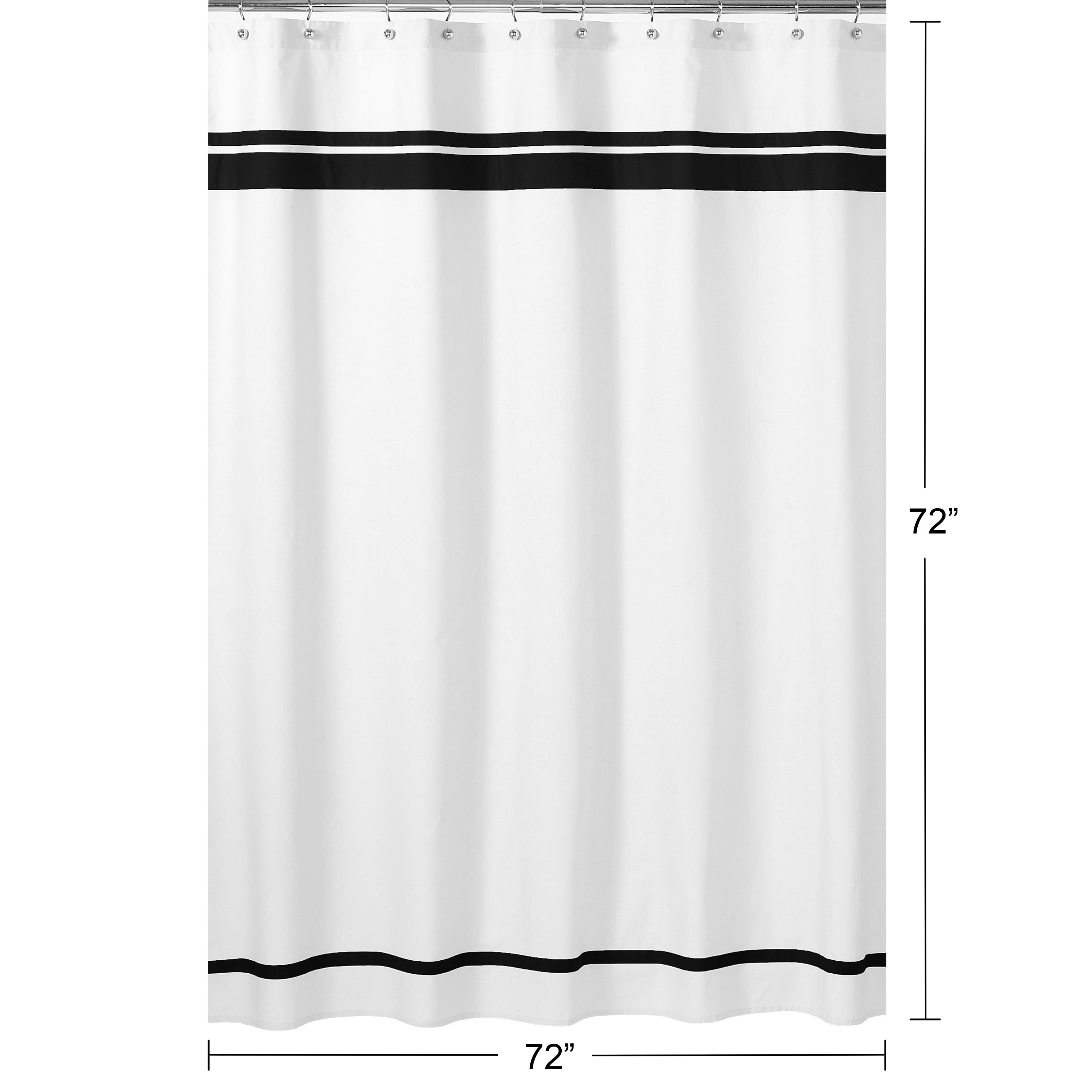 Sweet Jojo Designs White And Black Hotel Shower Curtain Overstock 7605147