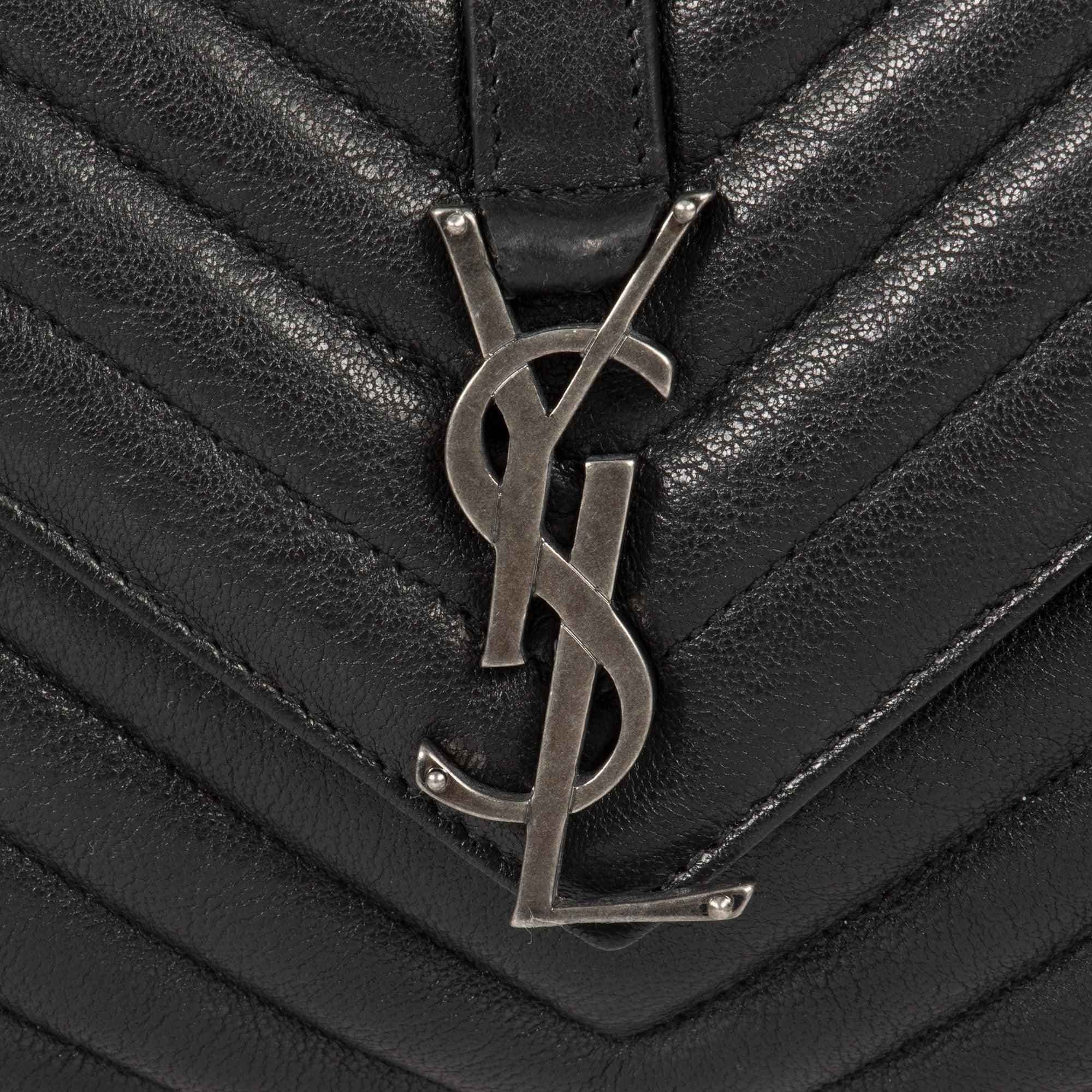 4c1453fb50d Shop Saint Laurent Classic Medium Monogram Black Matelasse Leather College  Bag - Free Shipping Today - Overstock - 23076884