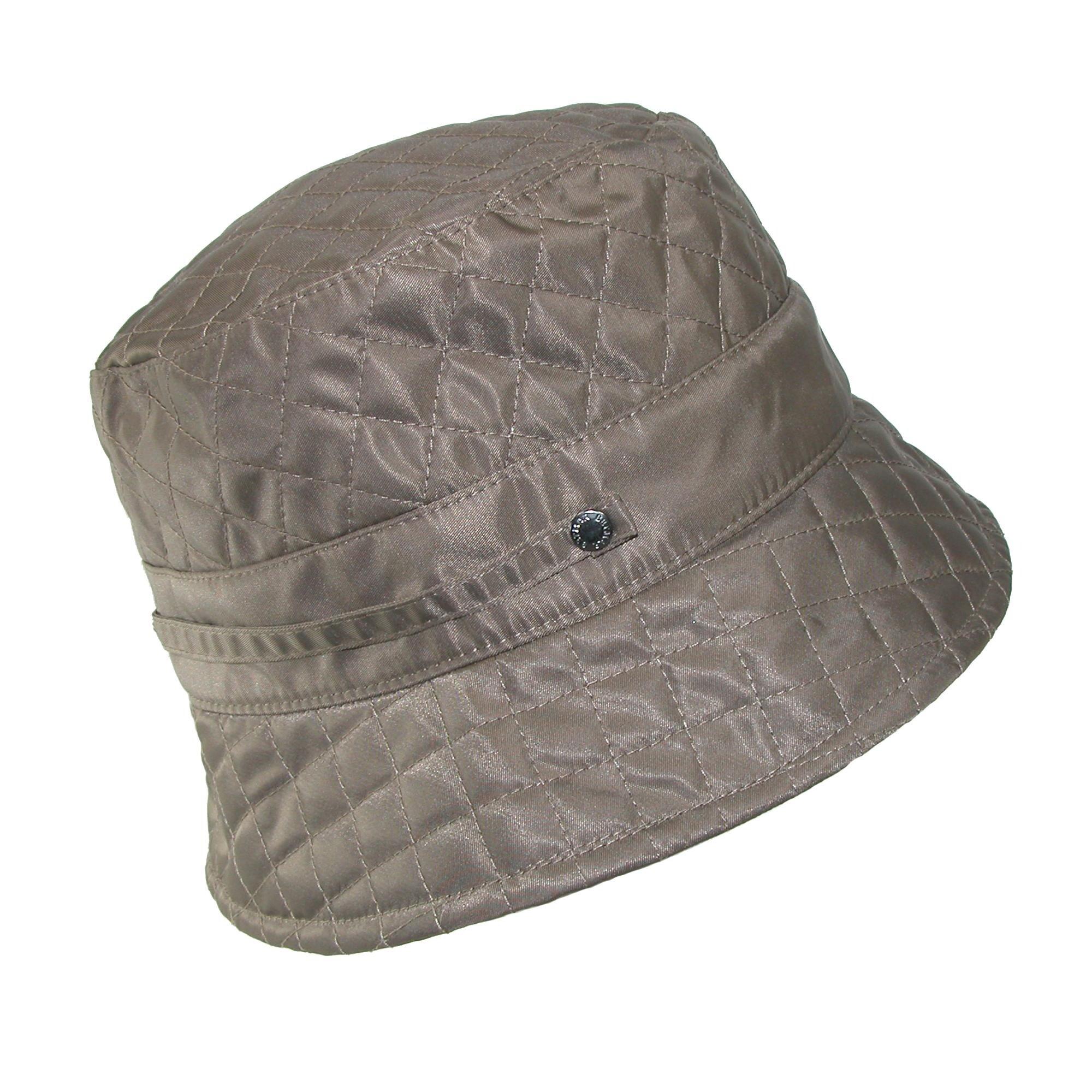 40d5b6fd027 Shop Betmar Women s Nylon Quilted Waterproof Bucket Rain Hat - Free ...