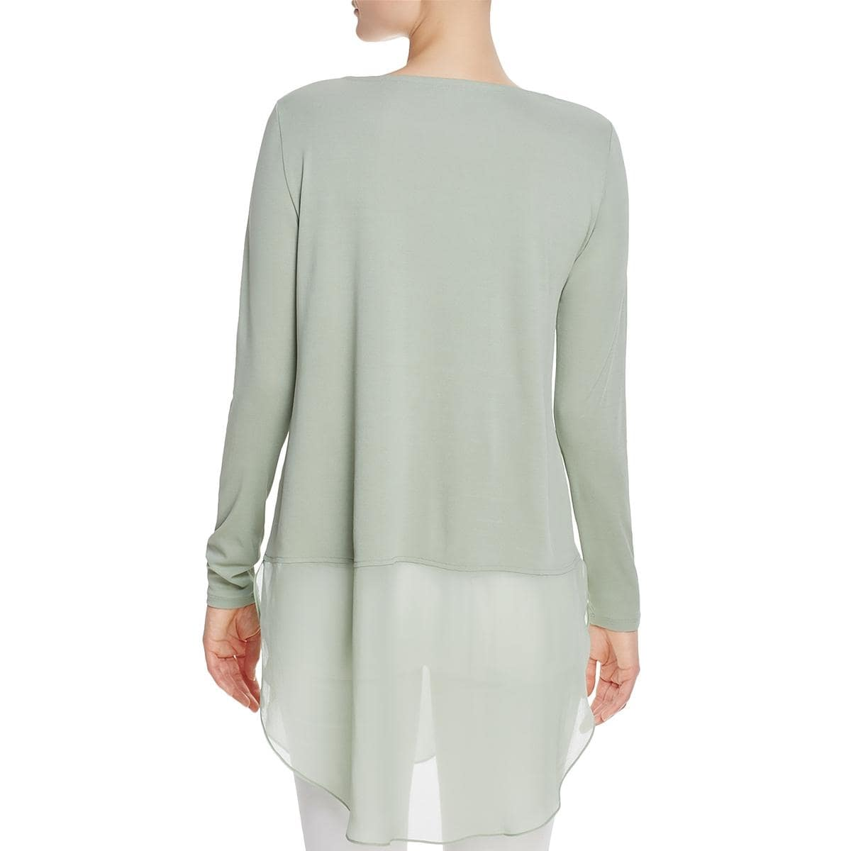 fd706f172ac2d4 Shop Eileen Fisher Womens Petites Tunic Top Silk Bateau Neck - Free  Shipping Today - Overstock - 22996605