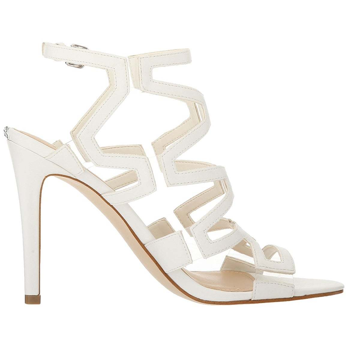 3e7594448435c GUESS Womens Padton3 Leather Almond Toe Special Occasion Strappy Sandals
