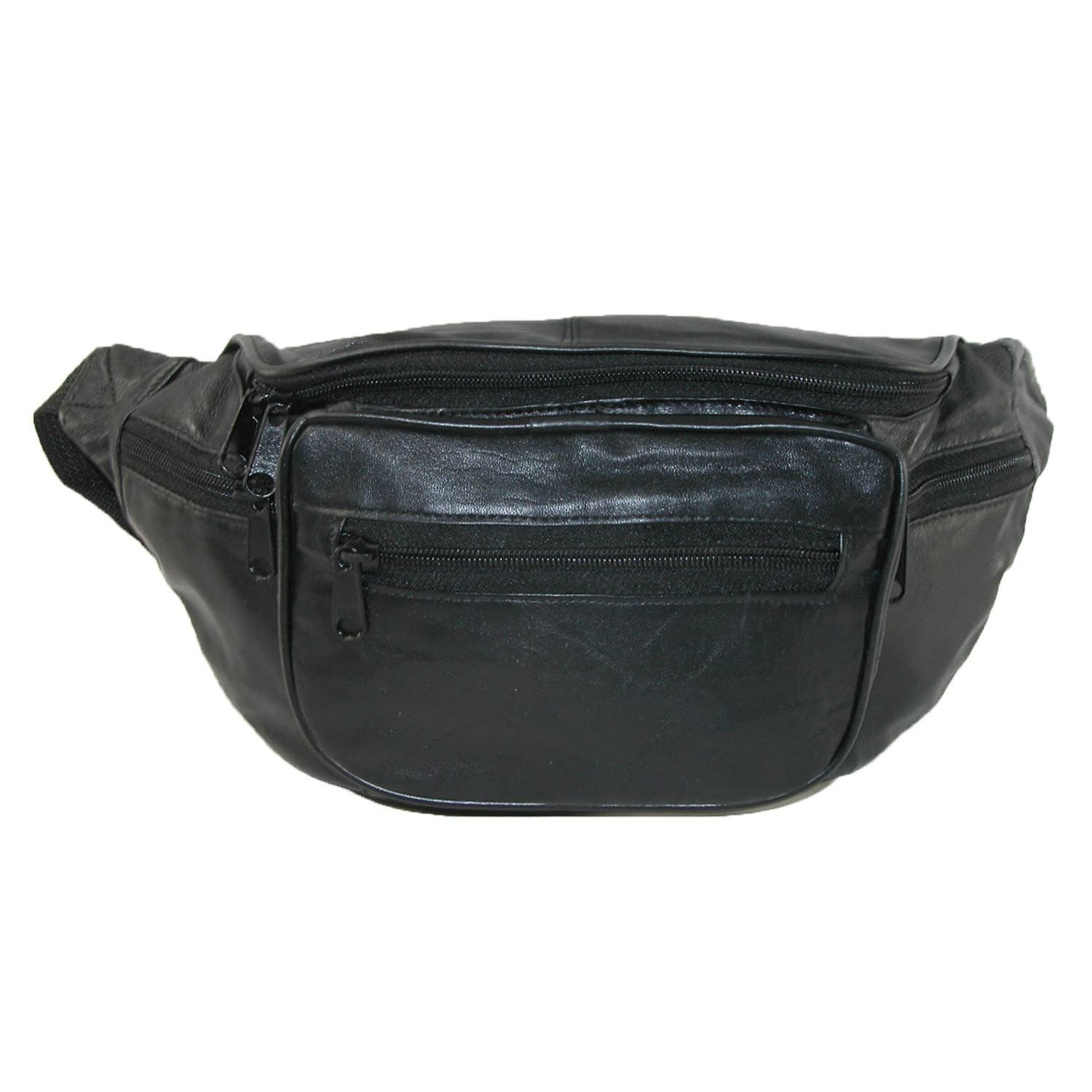 9159f34b4c13 CTM® Leather Multi Pocket Waist Pack - one size