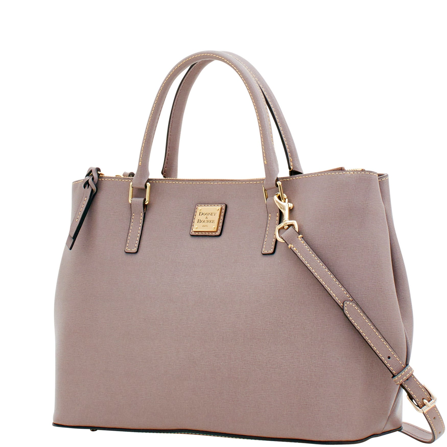 7b73d661e Shop Dooney   Bourke Saffiano Willa Zip Satchel (Introduced by Dooney    Bourke at  298 in Feb 2018) - Free Shipping Today - Overstock.com - 20122013