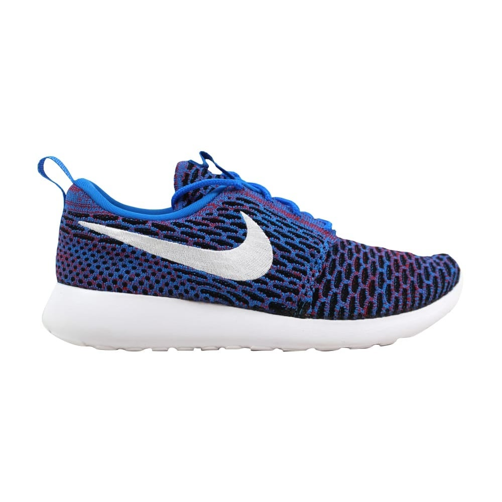 45372ca29d1ec Nike Roshe One Flyknit Photo Blue White-University Red-Black 704927-404  Women s