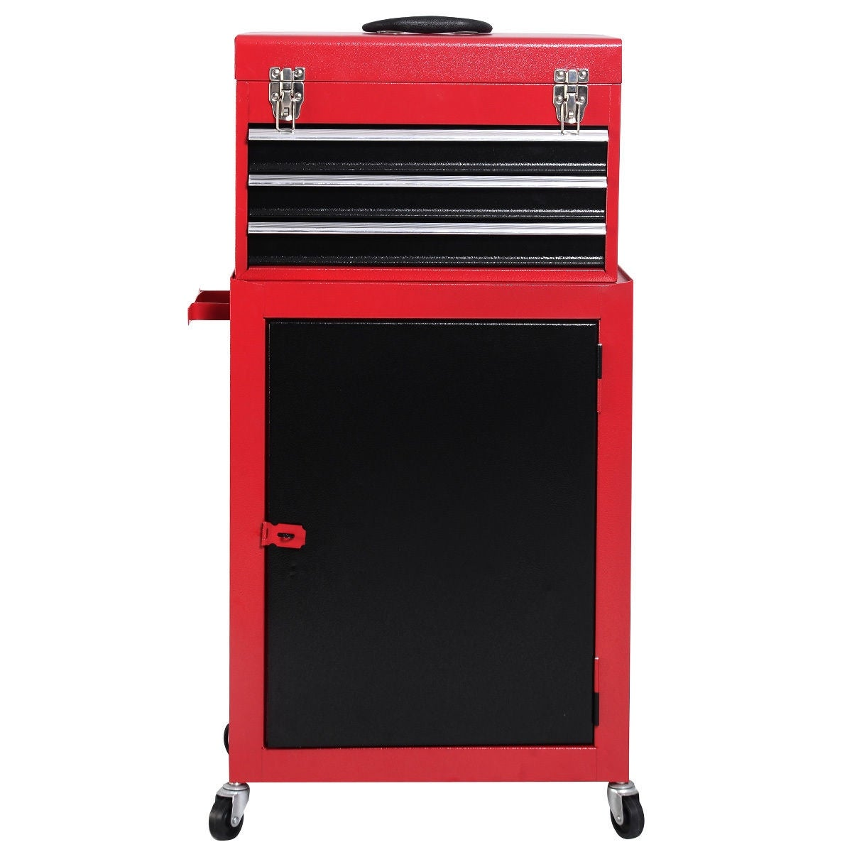 Shop Costway 2pc Mini Tool Chest u0026 Cabinet Storage Box Rolling Garage Toolbox Organizer - Free Shipping Today - Overstock.com - 16051715  sc 1 st  Overstock.com & Shop Costway 2pc Mini Tool Chest u0026 Cabinet Storage Box Rolling ...