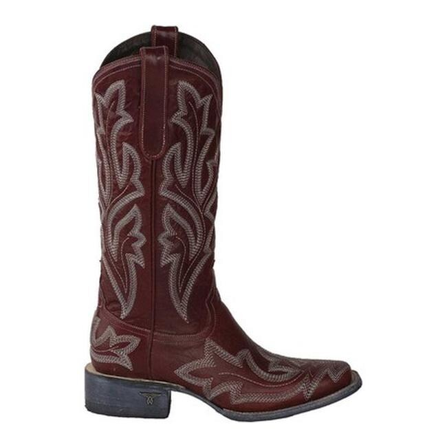 2447621145f Lane Boots Women's Saratoga Square Toe Cowgirl Boot Red Full Grain Leather