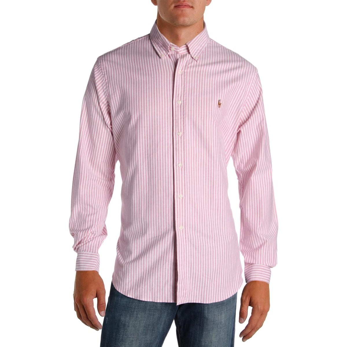 c137ef922fa Ralph Lauren Slim Fit Striped Dress Shirt – EDGE Engineering and ...