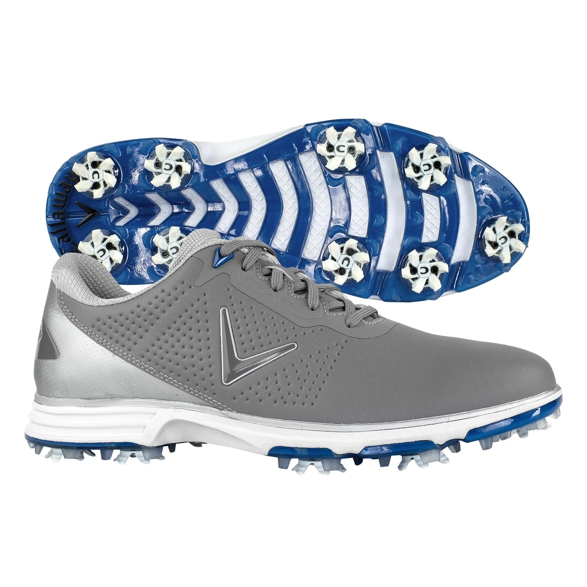 5bfe817800ee3 Shop Callaway Men s Coronado Golf Shoes - Grey Blue - On Sale - Free  Shipping Today - Overstock - 25583551