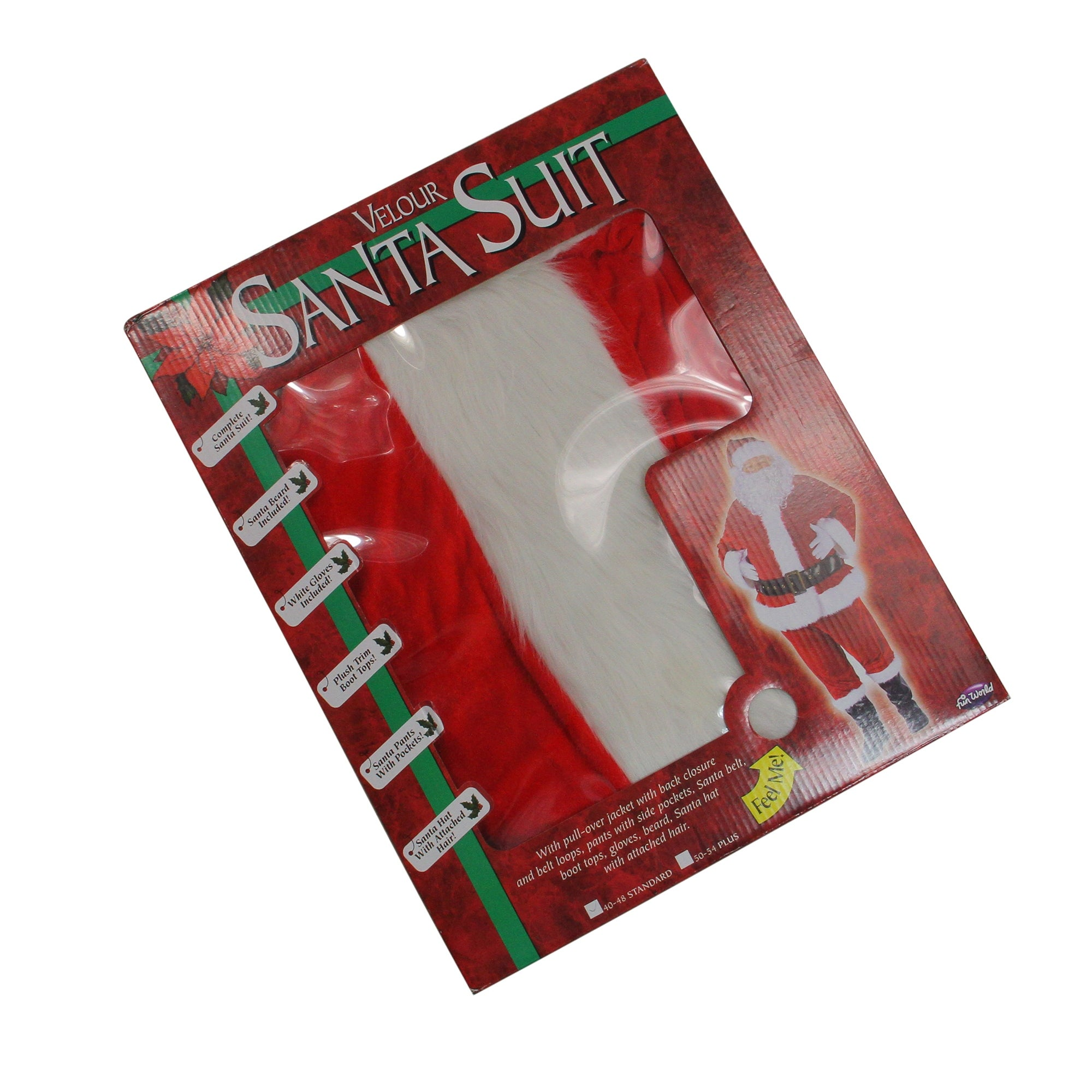 b6719d4ee6a42 Shop 7-Piece Deluxe Plush Velour Santa Claus Christmas Suit Costume - Adult  Men s Plus Size - Free Shipping Today - Overstock - 16561326