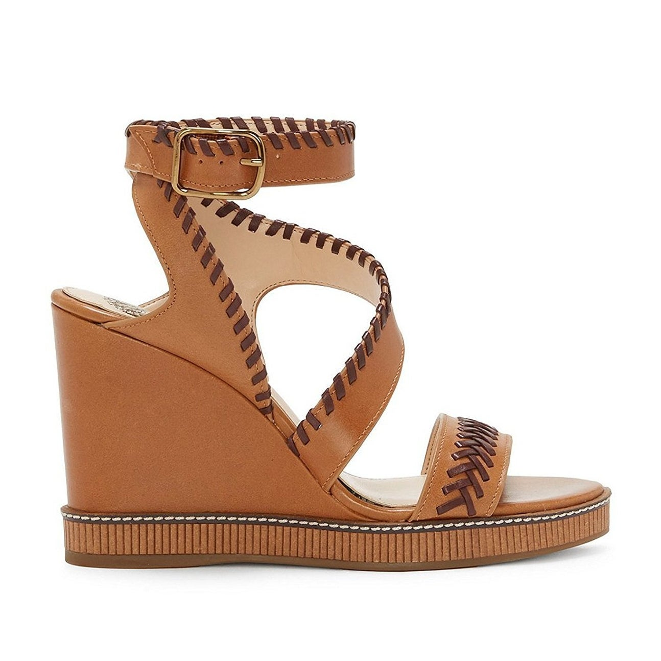450924dae11c Shop Vince Camuto Womens Ivanta Leather Open Toe Casual Platform Sandals -  Free Shipping Today - Overstock - 19879613