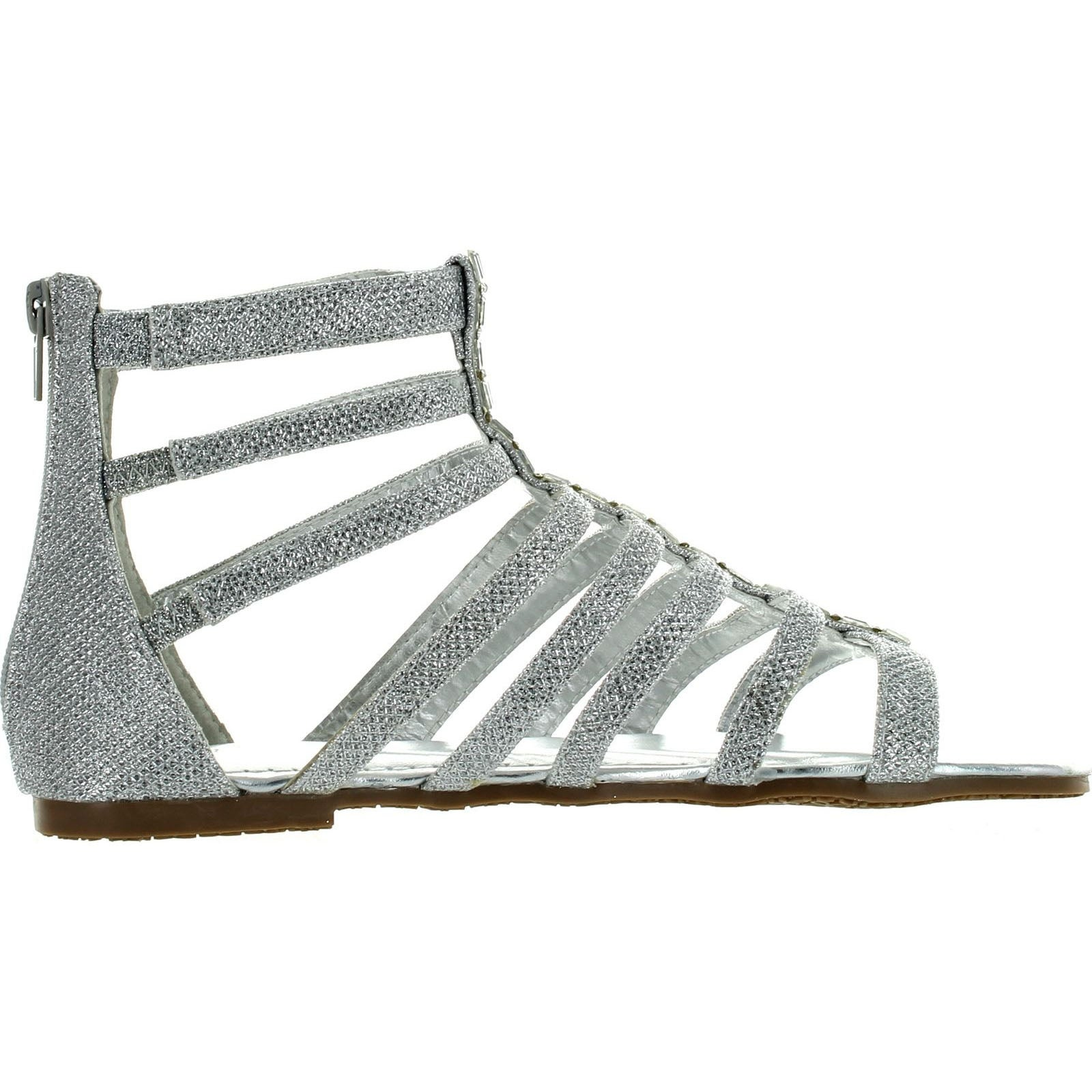 348d513c3131 Shop Bamboo Womens Fenchel 43 Gladiator Rhinestone Glitter Thong Flat  Sandals Silver - Free Shipping On Orders Over $45 - Overstock - 14384196