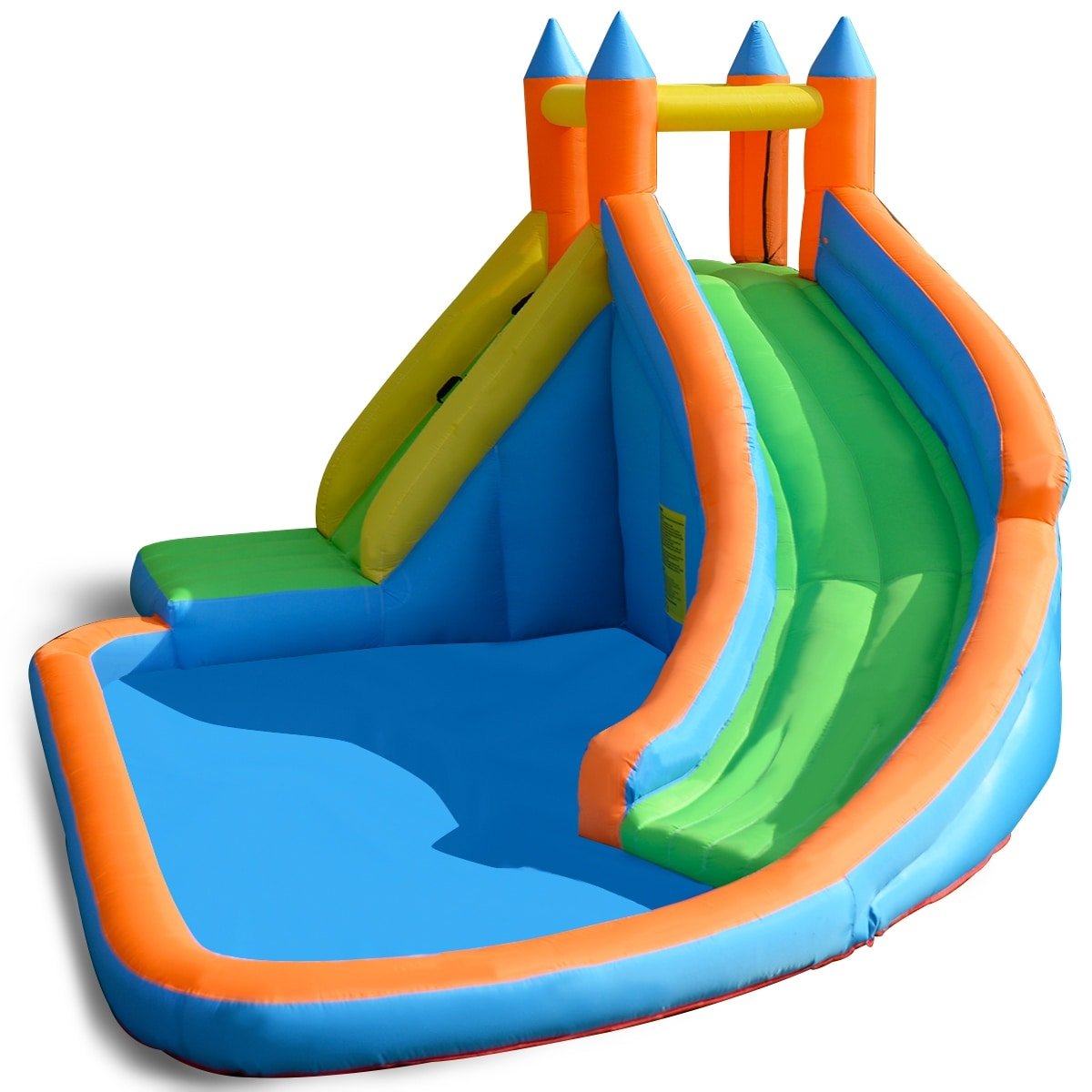 Costway Inflatable Water Slide Mighty Bounce House Jumper Castle Moonwalk Without Er Blue