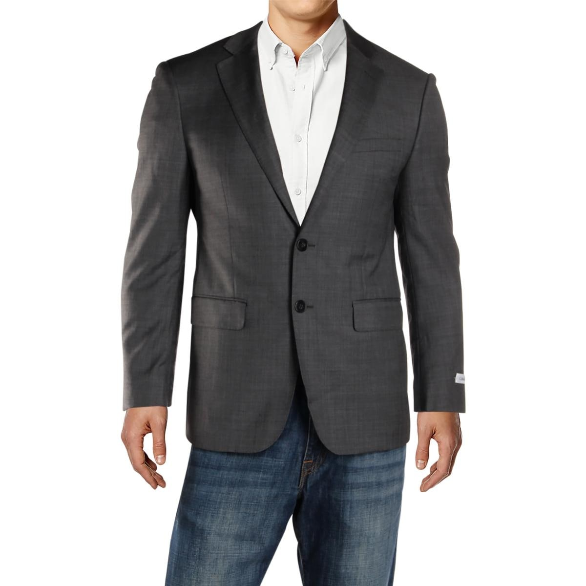 82302b5802 Shop Calvin Klein Mens Two-Button Blazer Wool Extreme Slim Fit - On Sale -  Free Shipping On Orders Over  45 - Overstock - 26385604