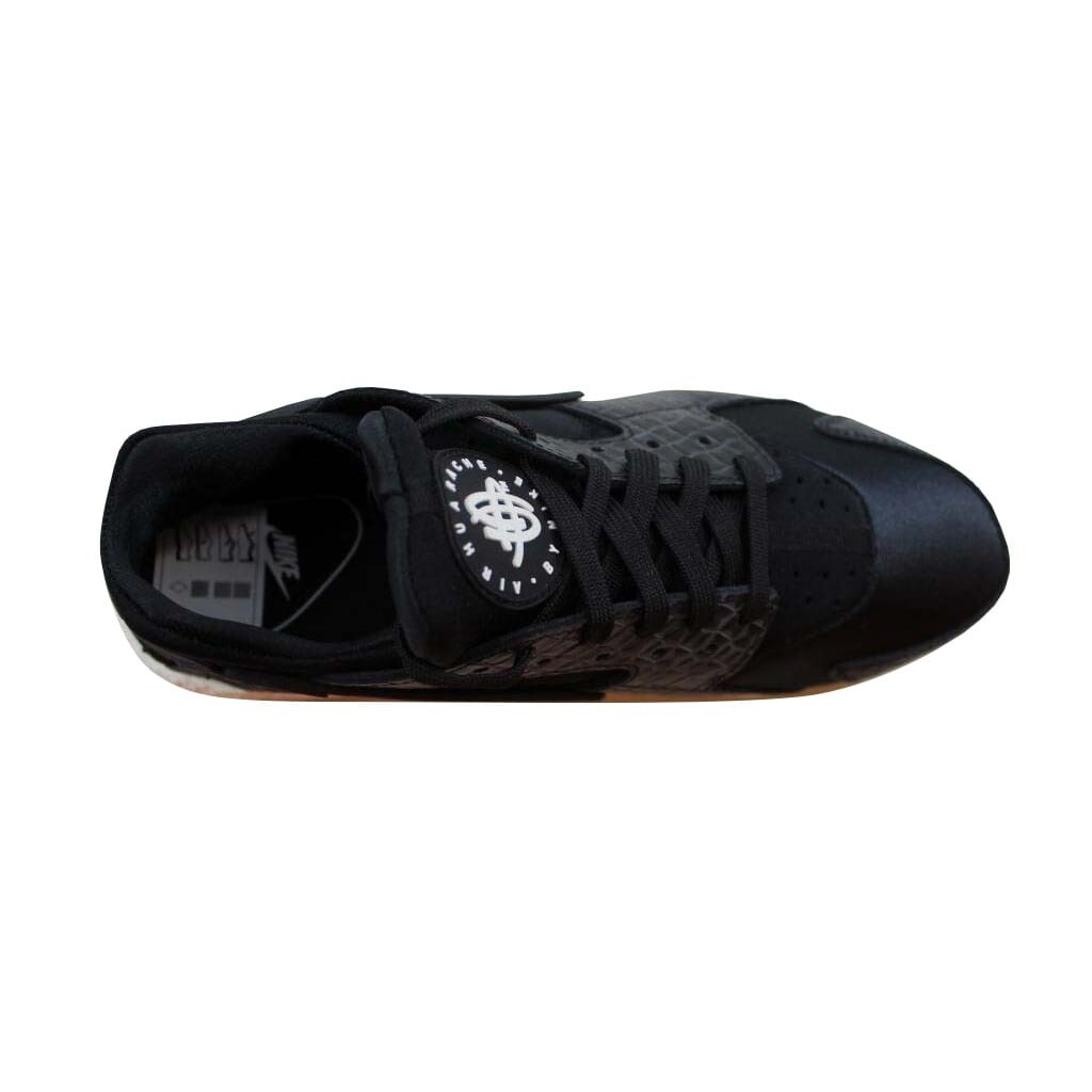 quality design 9b70b 0c639 Shop Nike Air Huarache Run Premium Black Black-Sail-Gum Medium Brown 683818-011  Women s - Free Shipping Today - Overstock - 22531413