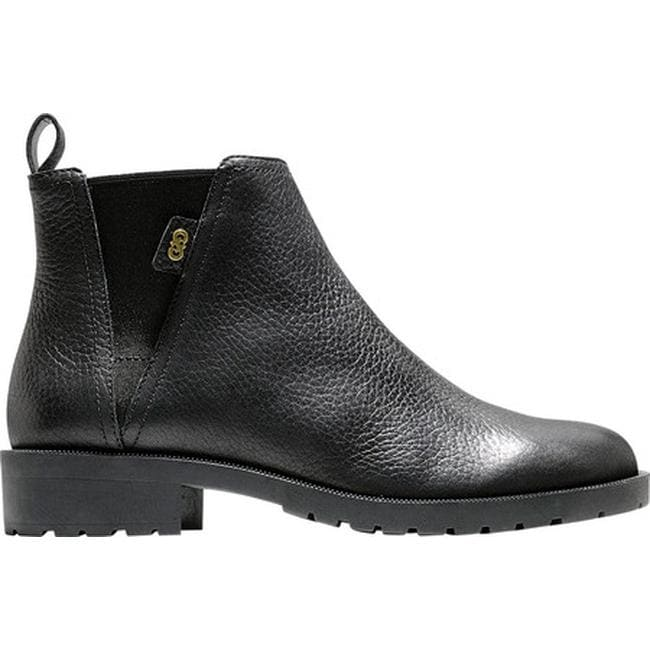 3c4100db7e5c Shop Cole Haan Women s Calandra II Waterproof Chelsea Boot Black Waterproof  Leather - Free Shipping Today - Overstock - 24300337