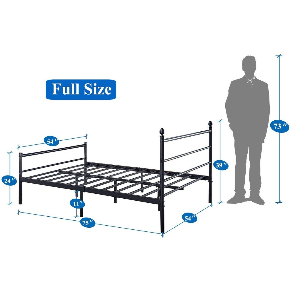 Shop Vecelo Platform Bed Framequeenfulltwin Size Metal Beds Box