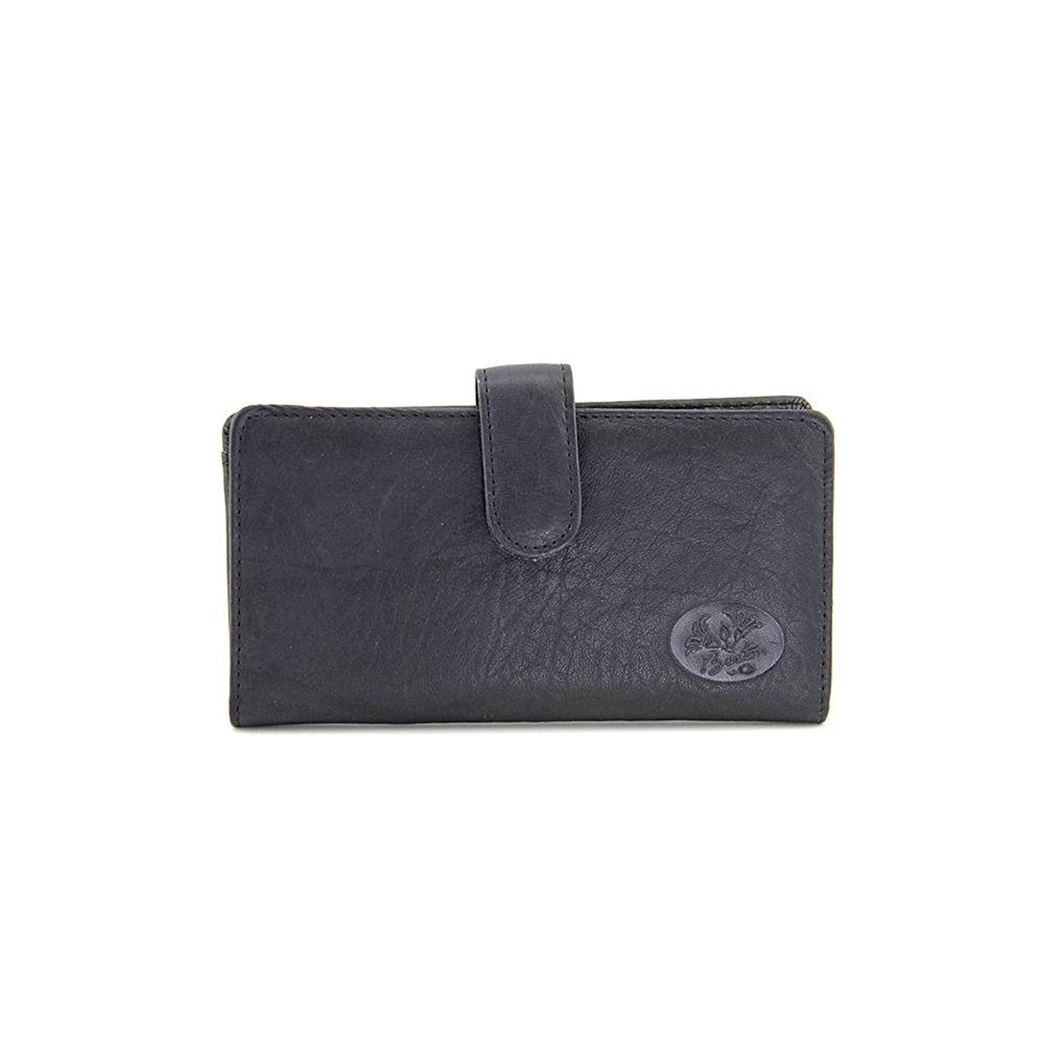 Buxton Black Leather Heiress Tab Checkbook Cover & Credit Card ...
