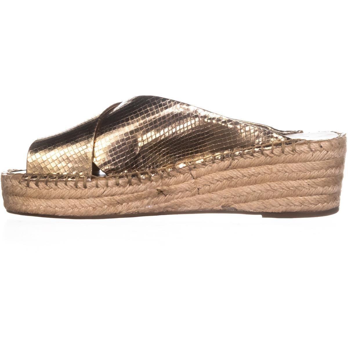 2b04ad63574 Franco Sarto Polina Espadrille Wedge Sandals, Gold - 9 w us
