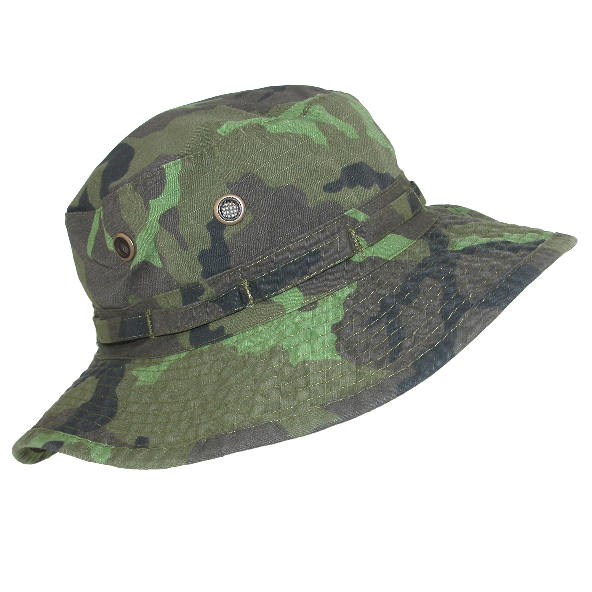 8efb94ac4 DPC Outdoor Design Men's Cotton Camouflage Boonie Hat with Chin Cord