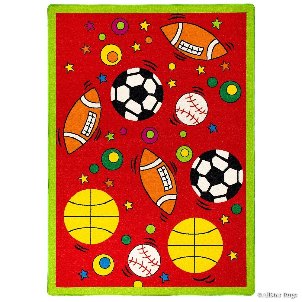 Shop Allstar Rugs Kids Baby Room Area Rug Sports Football