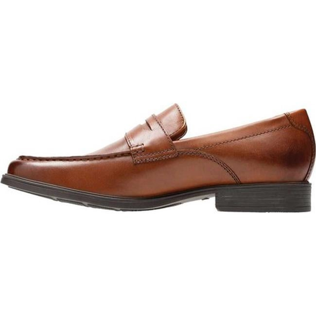 ff4bb9dc796 Shop Clarks Men s Tilden Way Penny Loafer Tan Full Grain Leather - Free  Shipping Today - Overstock - 20590208