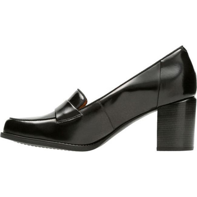 03ff4b0231c8 Shop Clarks Women s Tarah Grace Loafer Black Full Grain Leather - Free  Shipping Today - Overstock - 17417401