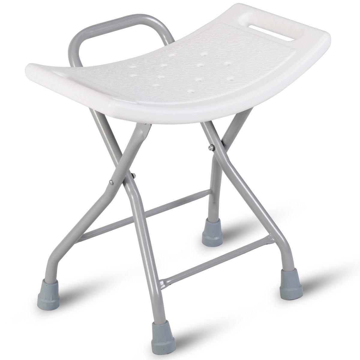 Shop Gymax Folding Shower Chair Medical Bath Bench Bathtub Stool ...