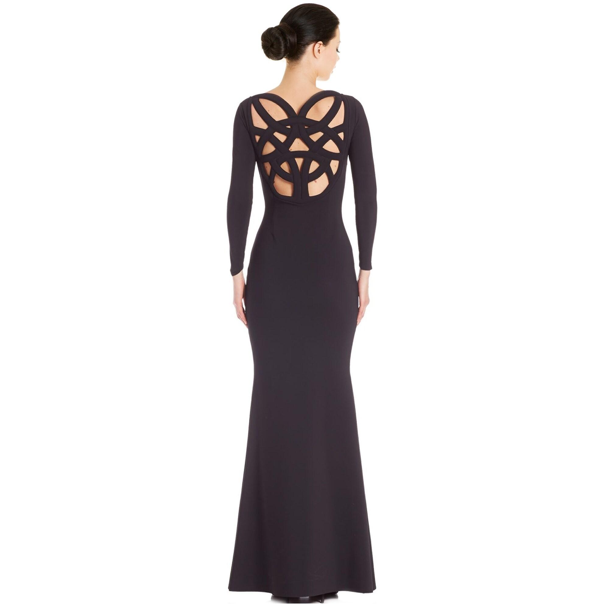 Shop La Petite Robe di Chiara Boni Back Cutout 3/4 Sleeve Evening ...