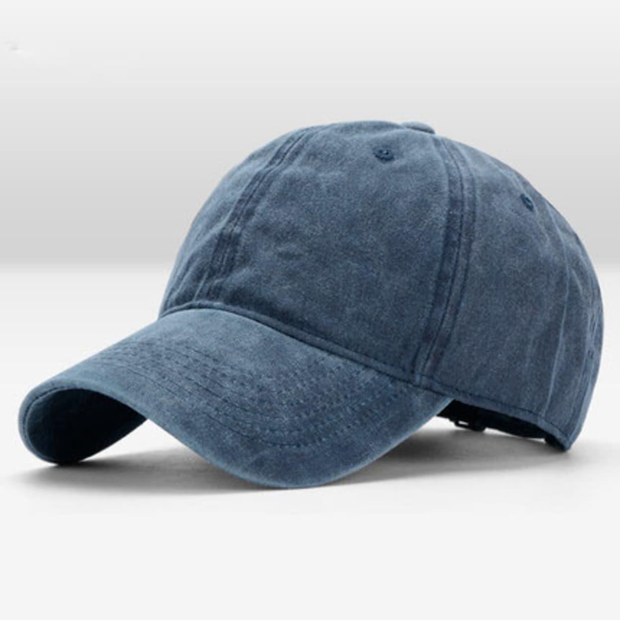87a04c8f6b Navy Blue Vintage Washed Dyed Cotton Hats Twill Low Profile Plain  Adjustable Women Men Hat Retro Baseball Caps