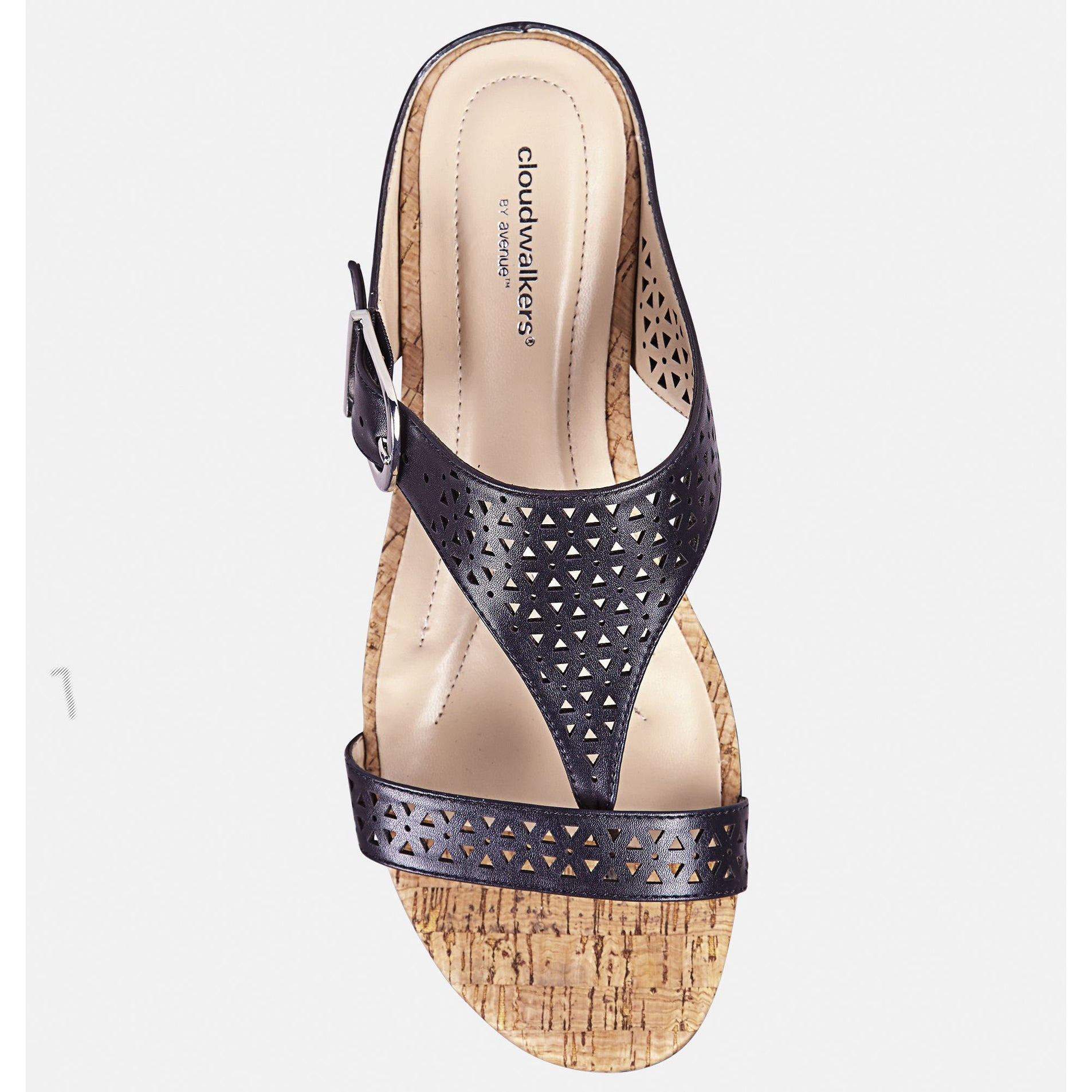 2099d38d894 Shop AVENUE Women s Ivy Perforated T-Strap Slide - Gold - Free Shipping  Today - Overstock - 27423995