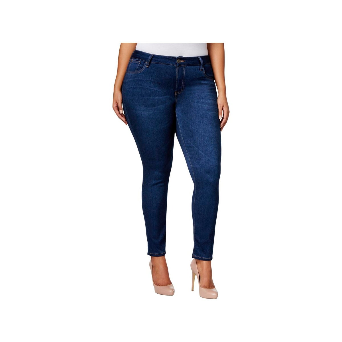 635eaea0b22b9 Shop Celebrity Pink Womens Plus Walker Skinny Jeans Denim Ankle ...