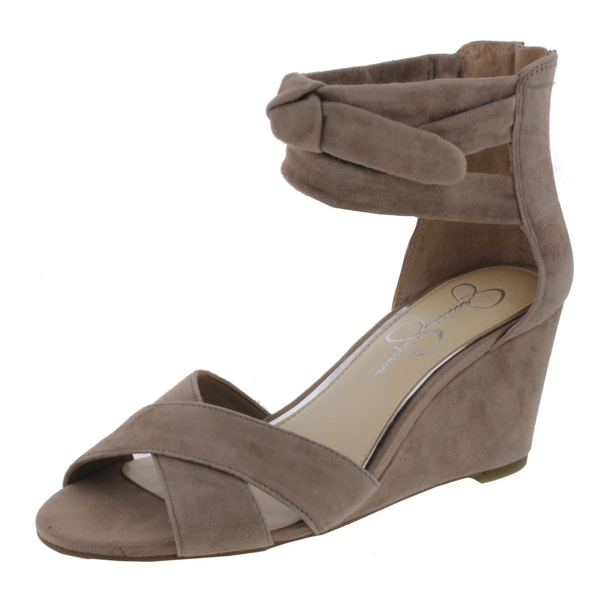 7f766db15acc Shop Jessica Simpson Womens Cyrena Wedge Sandals Criss-Cross Open Toe -  Free Shipping On Orders Over  45 - Overstock.com - 21656204