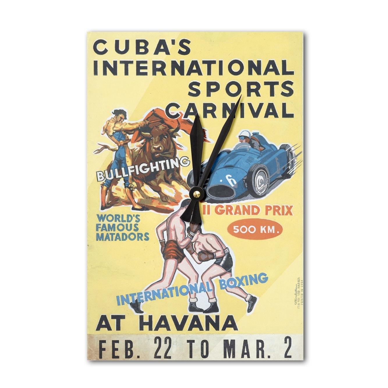 Cuba Sports Carnival (Rivadulla) Vintage Ad (Acrylic Wall Clock ...