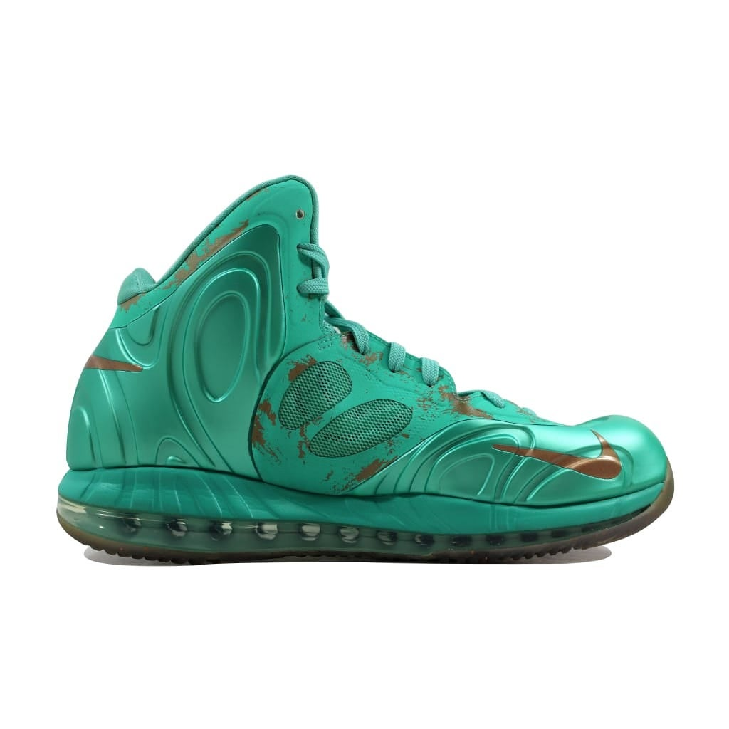 check out 67802 f8bec Shop Nike Men s Air Max Hyperposite Crystal Mint Metallic Coppercoin Statue  Of Liberty 524862-301 - Free Shipping Today - Overstock - 21893509