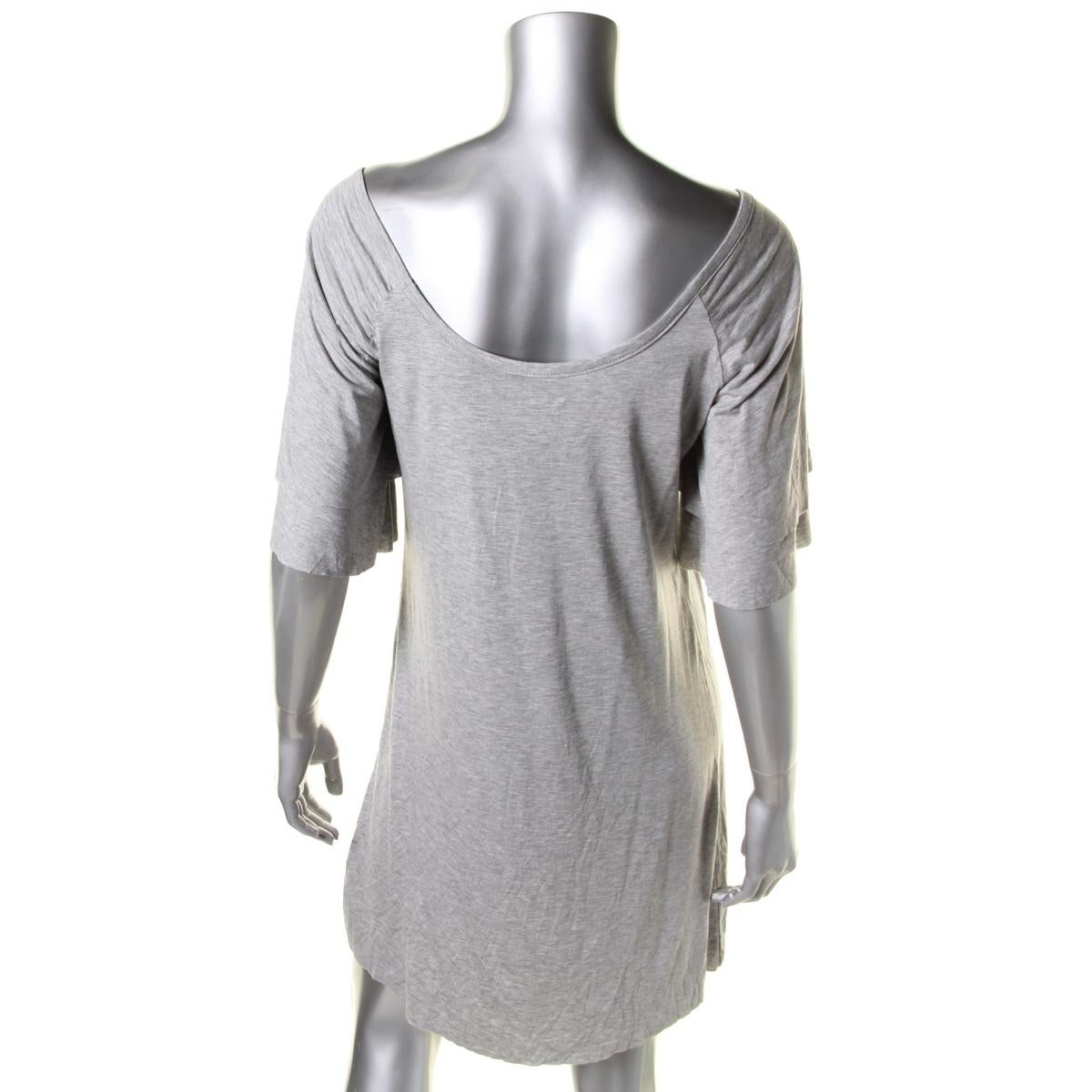 6bdf339de92ba Shop Three Dots Womens T-Shirt Dress Ruched Neck Short Sleeves - Free  Shipping On Orders Over  45 - Overstock - 19569063