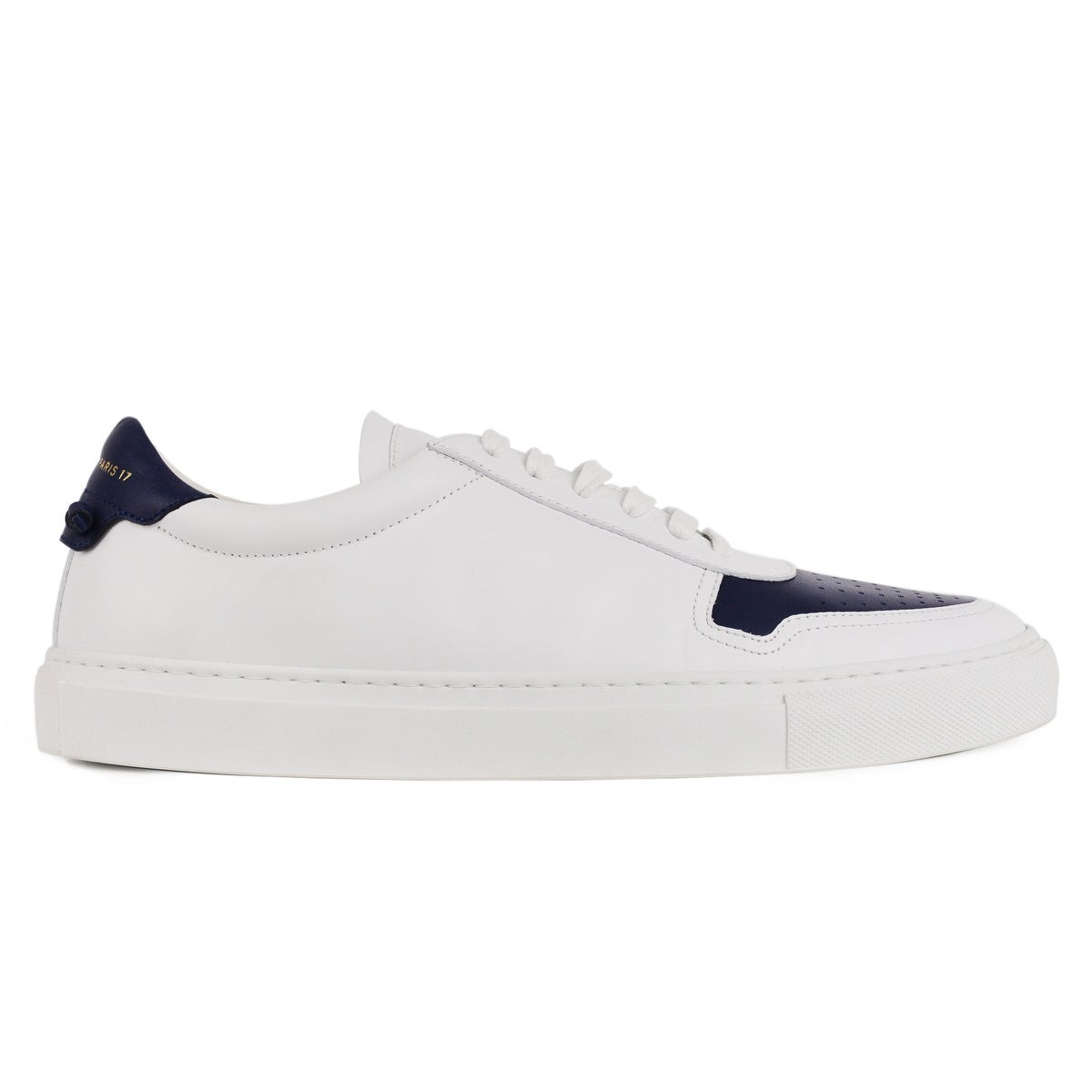 4fd897a0b37 Shop Givenchy Mens White Leather Navy Lace Up Sneakers - Free ...